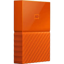 HARDDISK EXTERNAL DRIVE WD NEW MY PASSPORT VIBRANT 2017 4TB ORANGE - NEW USB 3.0 SIZE 2.5